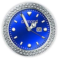 Diamond Collection - Watch Face Blue