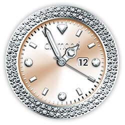 Diamond Collection - Watch Face Copper
