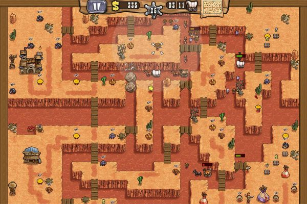 Take up a smart, strategic position and lie in wait at the canyon to ambush settlers, stagecoaches and the gold train!