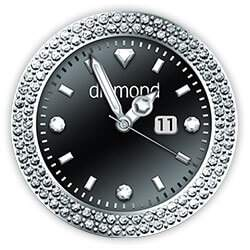 Diamond Collection - Watch Face Black