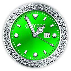 Diamond Collection - Watch Face Green
