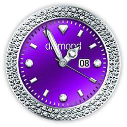 Diamond Collection - Watch Face Purple