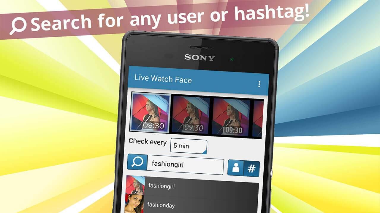 Live Watch Face for Instagram Screenshot