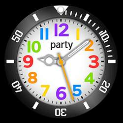 party Collection – Watch Face Black
