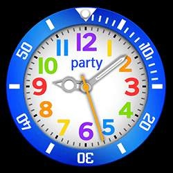 party Collection – Watch Face Blue