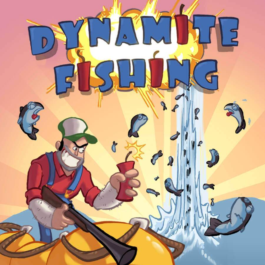 Dynamite Fishing Game Banner