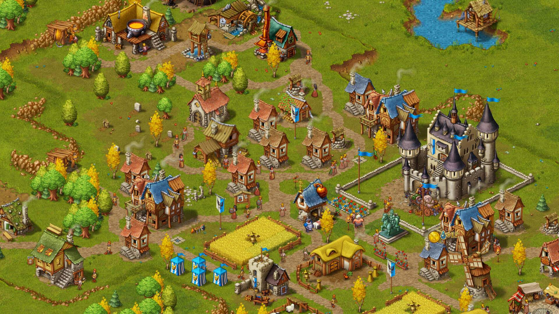 Townsmen medieval city building handygames for House builder online free