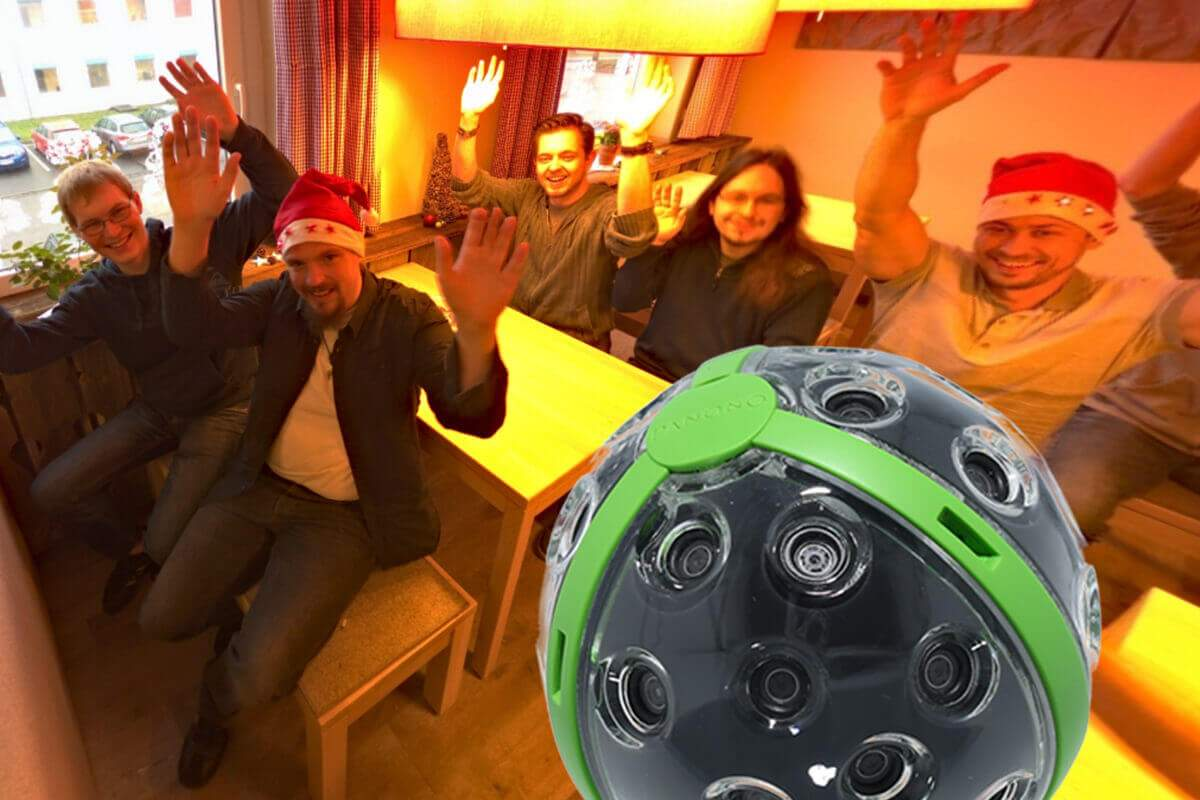 "The HandyGames team says ""Hello"" in 360-degree!"