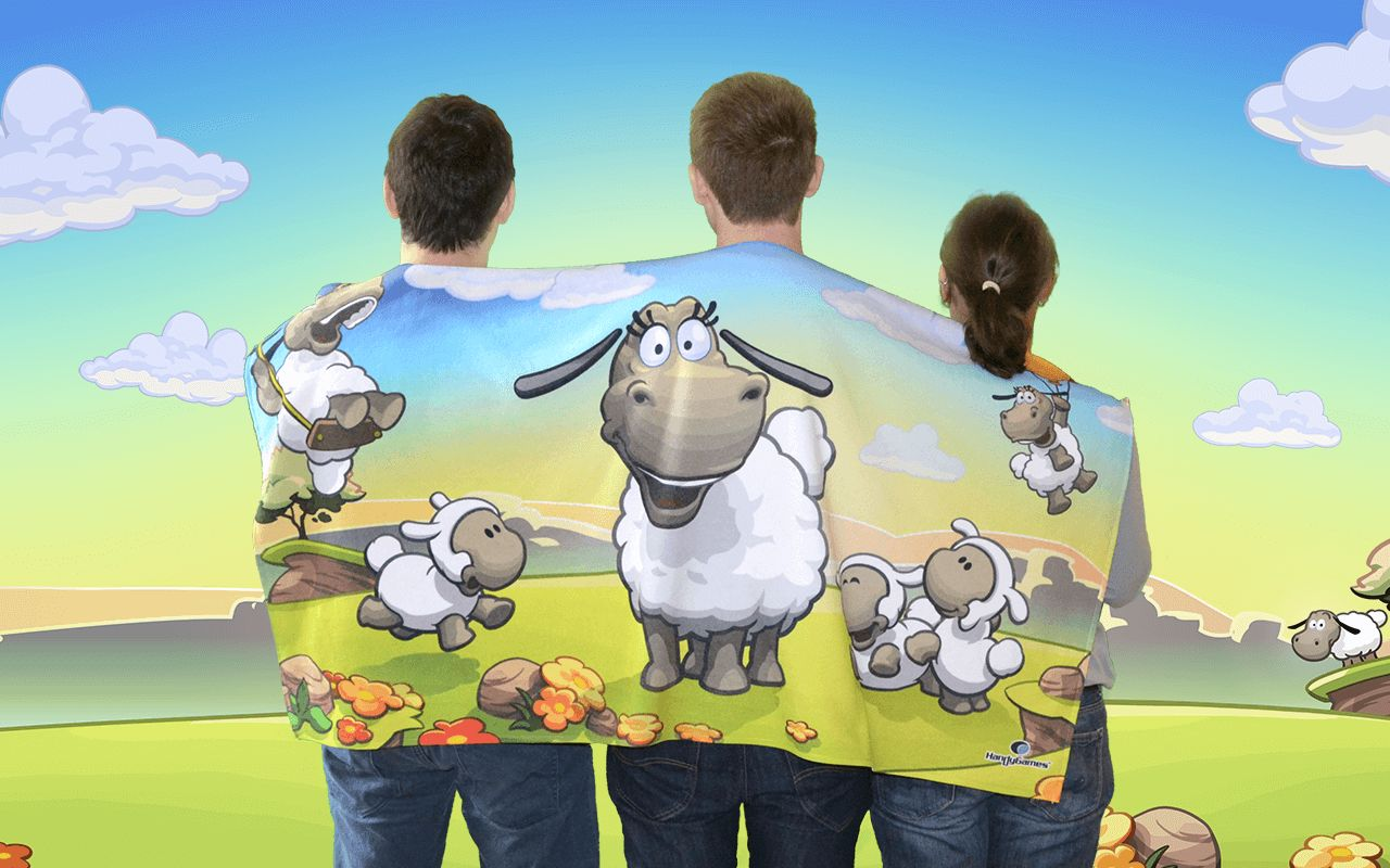 Clouds & Sheep Towel now available