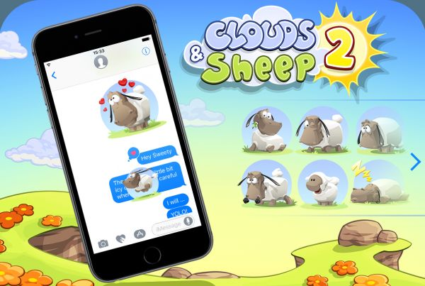 Clouds & Sheep 2 iOS sticker for iMessage