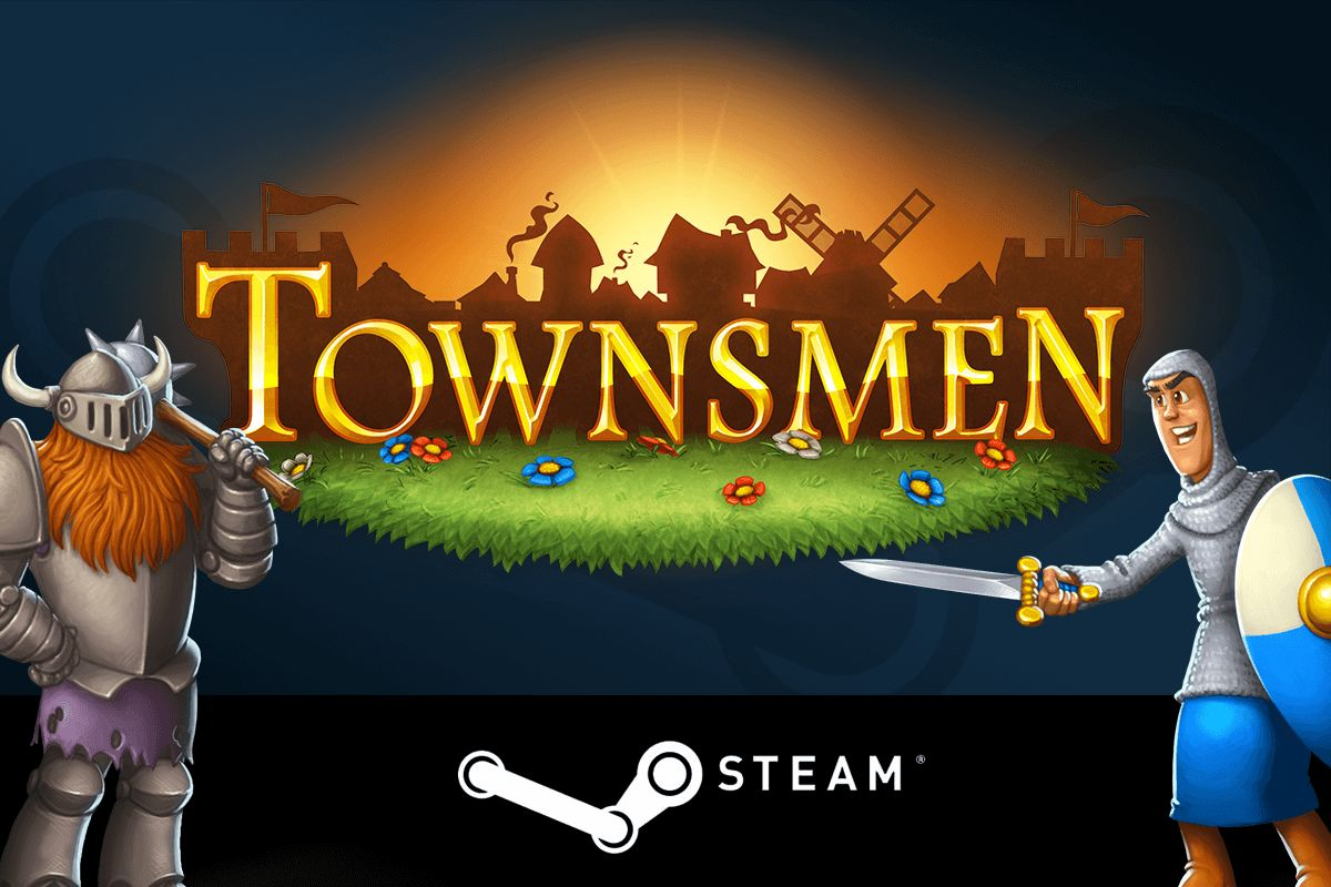 Townsmen logo knight soldier bandit steam
