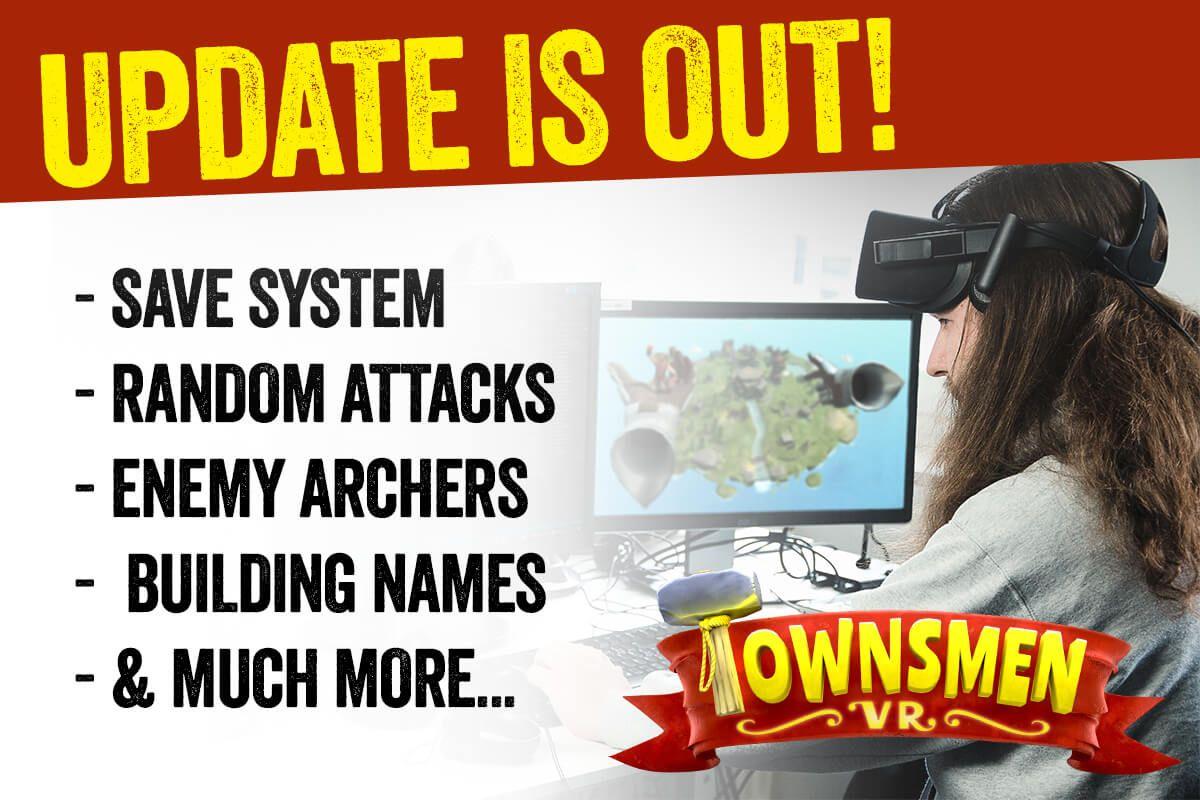 Townsmen VR – first feature update